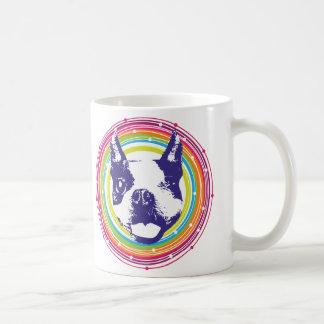 Boston Terrier - Colorful Circles Coffee Mugs