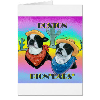 Boston Terrier Cowboy duo Card