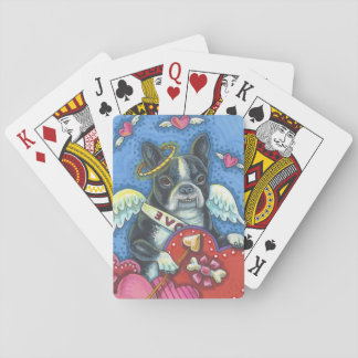BOSTON TERRIER Cupid PLAYING CARDS Poker