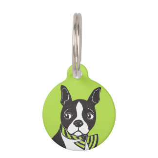 Boston Terrier Custom Round Pet Tag