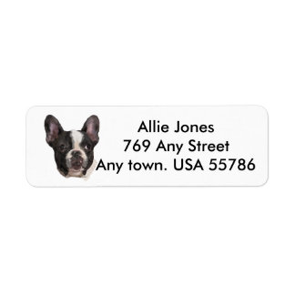 Boston Terrier Customized Return Address Label