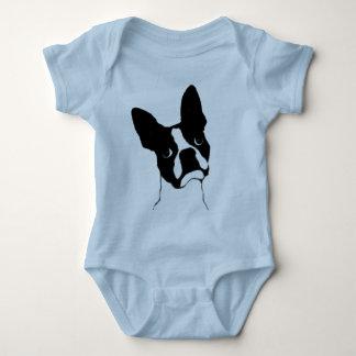 Boston Terrier- cute face Baby Bodysuit