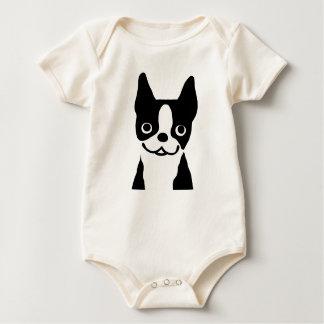 Boston Terrier - Cute Smiley Face Dog Baby Bodysuit