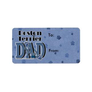 Boston Terrier DAD Address Label