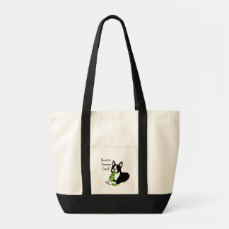 Boston Terrier Daddy with Tie 1 Tote Bag
