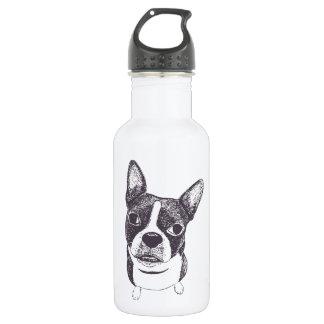 Boston Terrier Dog ARt by Carol Iyer 532 Ml Water Bottle