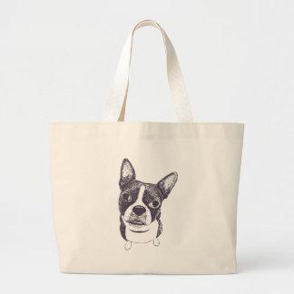 Boston Terrier Dog ARt by Carol Iyer Canvas Bag