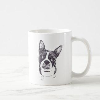 Boston Terrier Dog ARt by Carol Iyer Basic White Mug