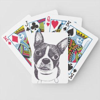 Boston Terrier Dog ARt by Carol Iyer Card Deck