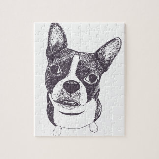 Boston Terrier Dog ARt by Carol Iyer Puzzles