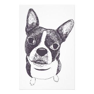 Boston Terrier Dog ARt by Carol Iyer Customized Stationery