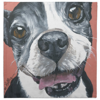 Boston Terrier Dog art Napkin