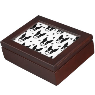Boston Terrier Dog Black And White / Andrea Lauren Keepsake Boxes