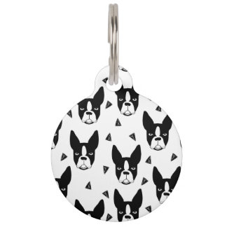 Boston Terrier Dog Black And White / Andrea Lauren Pet Tags