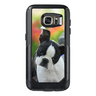 Boston Terrier Dog Cute Puppy on Commuter-Case OtterBox Samsung Galaxy S7 Case