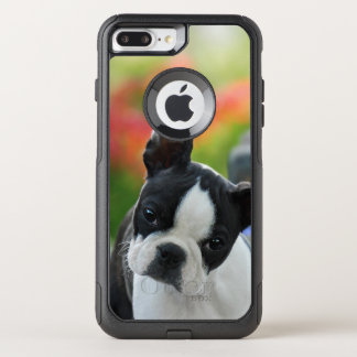 Boston Terrier Dog Cute Puppy Pet Photo - on OtterBox Commuter iPhone 8 Plus/7 Plus Case