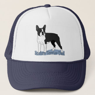 Boston Terrier Dog Dad Trucker Hat