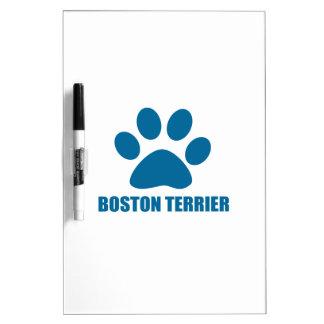 BOSTON TERRIER DOG DESIGNS DRY ERASE BOARD