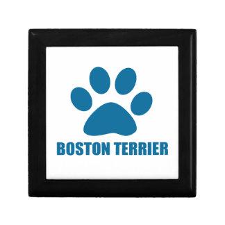 BOSTON TERRIER DOG DESIGNS GIFT BOX