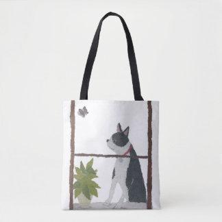 Boston Terrier, Dog, Modern Tote Bag