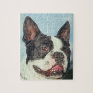 Boston Terrier Dog Puzzle