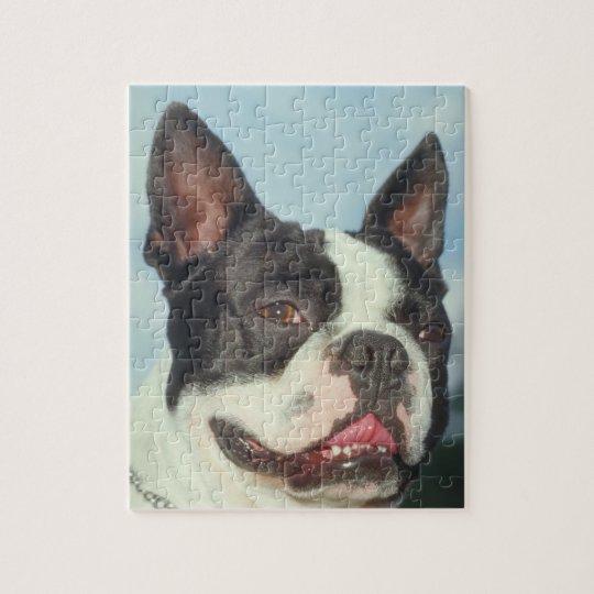 Boston Terrier Dog Puzzle