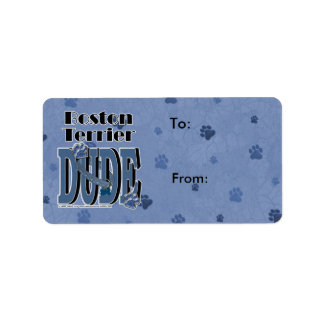 Boston Terrier DUDE Address Label