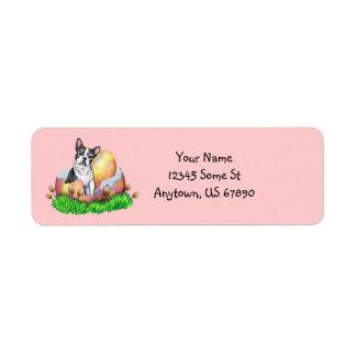 Boston Terrier Easter nb Labels