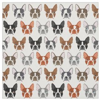Boston Terrier Fabric