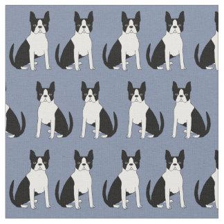 Boston Terrier fabric - cute  boston terrier dog