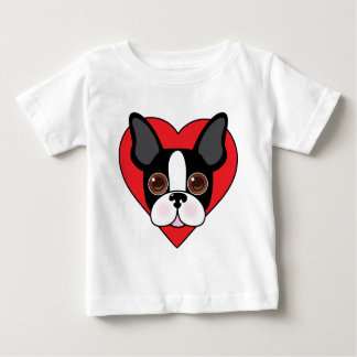 Boston Terrier Face Baby T-Shirt