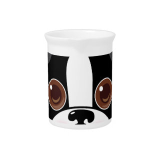 Boston Terrier Face Beverage Pitcher
