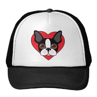 Boston Terrier Face Cap