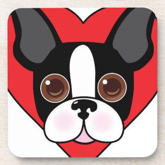 Boston Terrier Face Coaster