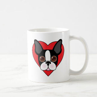 Boston Terrier Face Coffee Mug