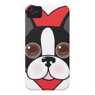 Boston Terrier Face iPhone 4 Case-Mate Case
