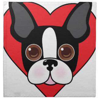 Boston Terrier Face Napkin