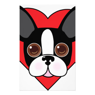 Boston Terrier Face Stationery