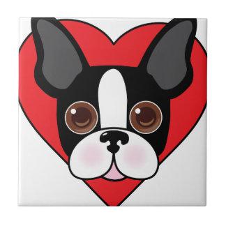 Boston Terrier Face Tile