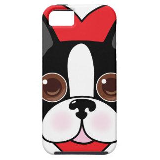 Boston Terrier Face Tough iPhone 5 Case