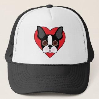 Boston Terrier Face Trucker Hat