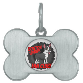 Boston Terrier Fan Club Pet Name Tags