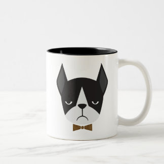 Boston Terrier French Bulldog Mean Mug Mug