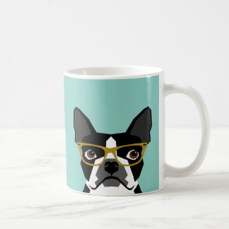 Boston Terrier Glasses Mug