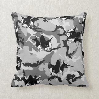 Boston Terrier Grade A Cotton Throw Pillow 16x16