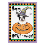 Boston Terrier Halloween Greeting Card
