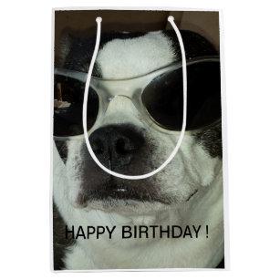 Boston Terrier Happy Birthday Gift Bag