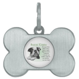 Boston Terrier Heritage of Love Pet Name Tags