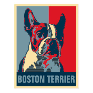 Boston Terrier Hope Inspired Postcard
