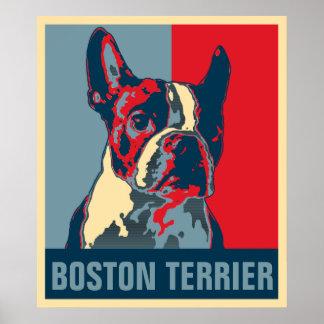 Boston Terrier Hope Inspired Poster